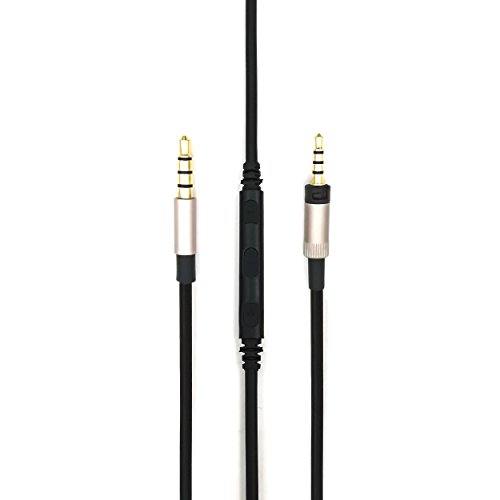 KetDirect Cable for Sennheiser Momentum/Momentum 2.0 / HD1 Wireless On-Ear Headphones, Remote Volume Control & Mic Compatible iPhone iPod ipad iOS ()