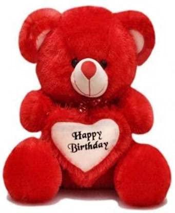 Soft Teddy Bear Colors RED Size 2 FEET 60 cm