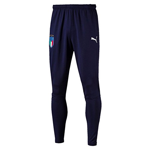 Italy Training KIDS Pants with Zipped Pockets 2018/2019 - Navy - 128 cm by PUMA