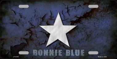Smart Blonde LP-8106 Bonnie Blue Star Novelty Metal License Plate