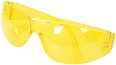 Silverline 309636 Gafas de seguridad con protección UV, Amarillo