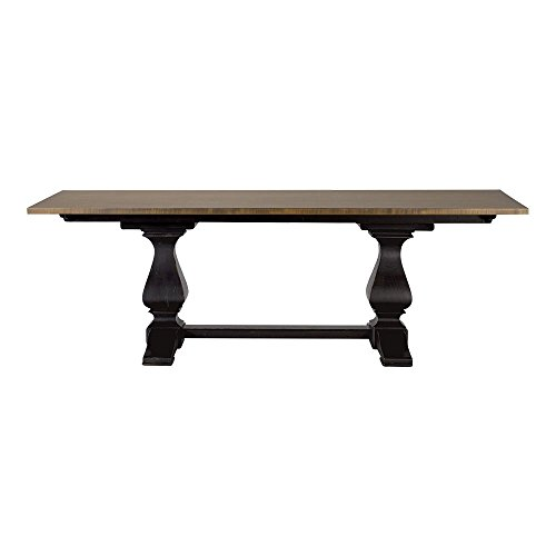 Ethan Allen Cameron Trestle Dining Table, Rye/Charcoal Cameron Dining Table