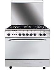 Fresh 500007531 Italiano Cast Digital Gas Cooker 5 Burners Full Stainless 55 X 80 cm