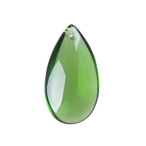 LONGWIN Crystal Teardrop Chandelier Drops Christmas Tree Decorations Green(Pack of (Drilled Teardrop Green)