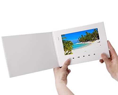 LuguLake Video Brochure, 7 Inch LCD Video Card Digital Greeting Card E-Card Gift for Birthday, Anniversary, Holiday, Thanksgiving, Christmas, Marketing, Brand Advertising