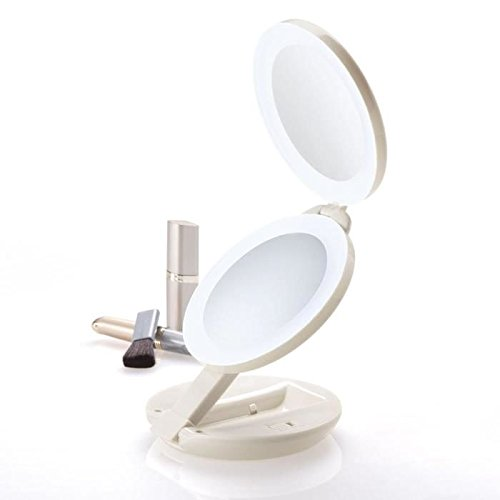 Zadro 1X 10X Magnification Led Lighted Travel Mirror
