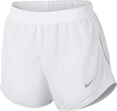 Shorts Tempo Running Dri Nike Women Fit (Nike Women's Dry Tempo Short, White/White/Wolf Grey, X-Large)