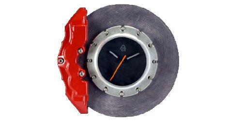Auto Art Ceramic Brake Disc Wall Clock - (Porsche Clock)