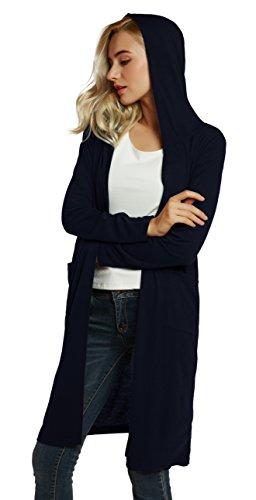 Manche Hauts Long Gilet Casual Urban GoCo Longue Ouvert Femme Uni Cardigan q8z8vt