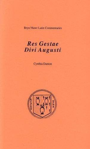 Res Gestae Divi Augusti (Bryn Mawr Commentaries, Latin)