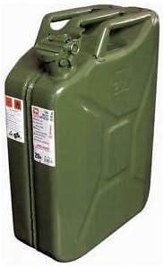 2x tanica di benzina carburante metallo tanica 20 L verde oliva metallo tanica DIESEL