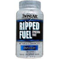 Twinlab Ripped Fuel Enhancer métabolique, définition, éphédra, 200 Capsules