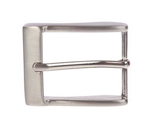 "1 1/4"" (35 mm) Single Prong Rectangular Belt Buckle, Silver from beltiscool"