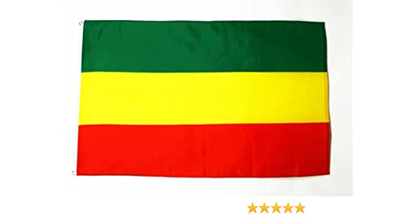 AZ FLAG Bandera de ETIOPIA SIN Armas 90x60cm - Bandera ETÍOPE SIN Escudo 60 x 90 cm: Amazon.es: Jardín