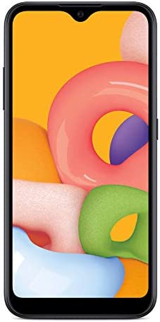 Simple Mobile Samsung Galaxy A01 4G LTE Prepaid Smartphone - Black - 16GB - Sim Card Included - GSM