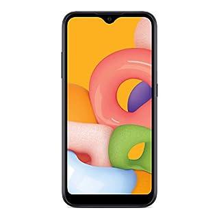 Simple Mobile Samsung Galaxy A01 4G LTE Prepaid Smartphone - Black - 16GB - Sim Card Included - GSM
