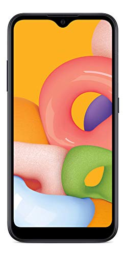 Simple Mobile Samsung Galaxy A01 4G LTE Prepaid Smartphone – Black – 16GB – Sim Card Included – GSM