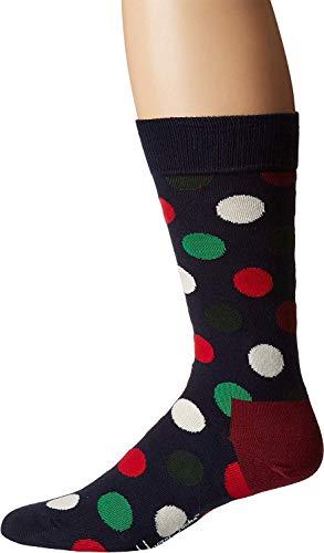 Happy Socks Men's Holiday Big Dot Sock Red/Green Men's Shoe Size 10-13