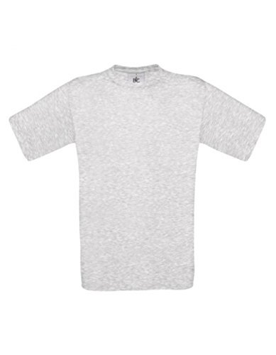 T-Shirt Exact 190 Basics Rundhals Shirt viele Farben B&C S-XXL M,Ash