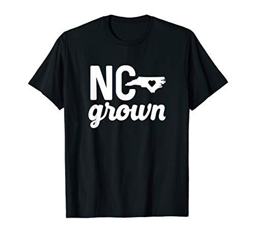 North Carolina Grown T-shirt NC Home State Shirt Heart Love