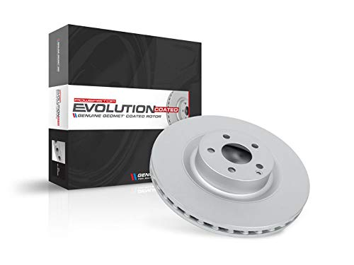 Power Stop EBR1228EVC Evolution Coated Front High Carbon Brake Rotor