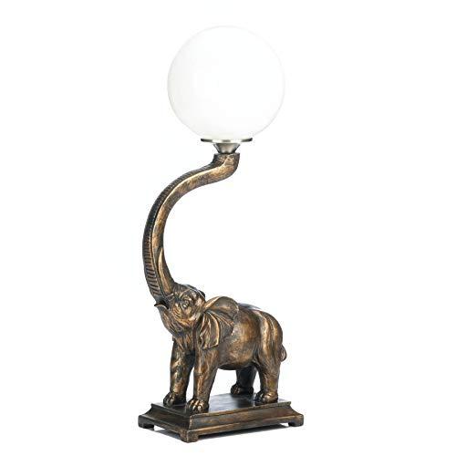 VERDUGO GIFT Trumpeting Elephant Globe Lamp (Accent Elephant Lamp)