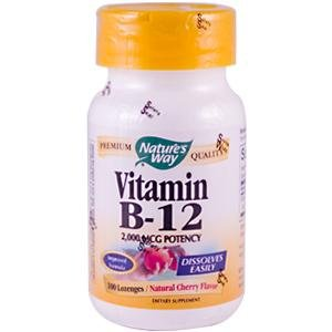 Nature Way vitamine B12 Losange, 100 comte