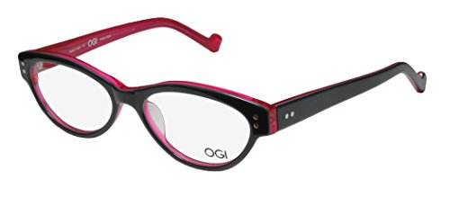 Ogi 3067 Womens/Ladies Vision Care Stylish Designer Full-rim Eyeglasses/Spectacles (52-16-140, Dark Gray / - Mount Rimless Drill Glasses
