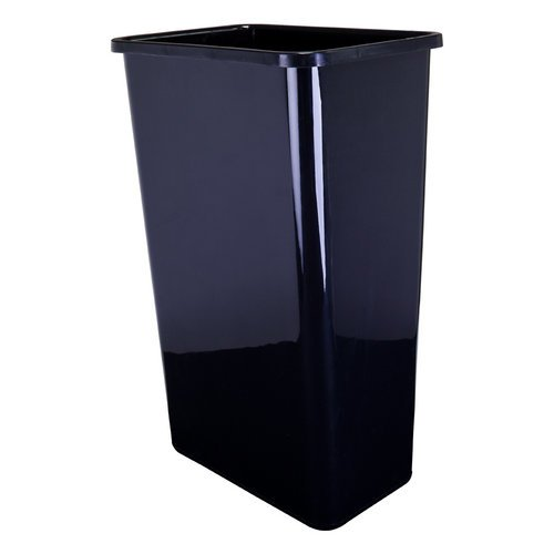 Hardware Resources CAN-50 Plastic Waste Container, Black (Bins Waste Plastic)
