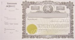 Goes® Texas Stock Certificates, 25 per package