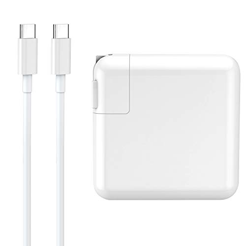 61W USB C Power Adapter Charger, UL Certified USB Type C Wall Charger with Power Delivery Fast Charging USBC Brick for MacBook Pro 13', MacBook Air, iPad Pro 2018, iPhone XS/Max/XR/X/8/8+ and More