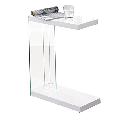- Steve Silver Elaina Chairside End Table in White