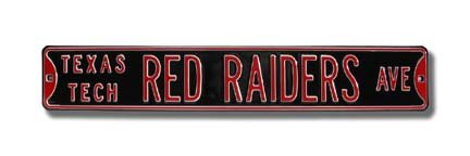- Authentic Street Signs 70105 Texas Tech Red Raiders Ave, Heavy Duty, Metal Street Sign Wall Decor, 36