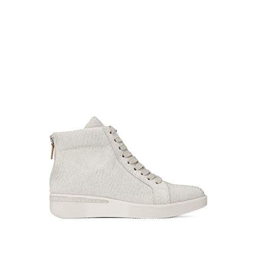 - Gentle Souls by Kenneth Cole Women's Helka Hightop Lace-up Sneaker Shoe, silver, 8 M US