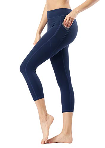 Dragon Fit Pockets Compression Yoga Pants Tummy Control 4 Way Stretch Workout Running Yoga Leggings Non See-Through (X-Large, - Eagle Leggings American