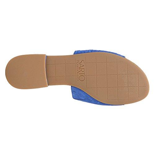 Couturier Franco Amani Diapositive Sandale Par, Bleu Daim Bleu