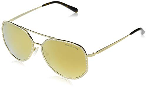 Michael Kors MIAMI MK1039B Sunglasses 10147P-58 - Shiny Pale Gold Frame, Liquid ()