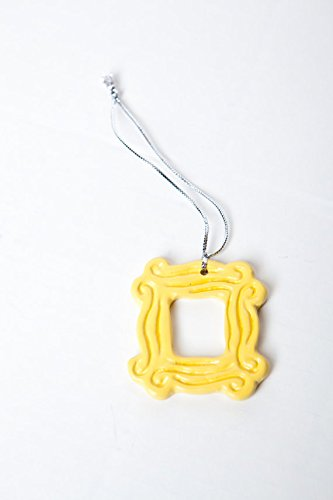 Click for larger image of Yellow Peephole Frame Ornament (2.25� x 2.25�), inspired by the one on Monica's door as seen on Friends