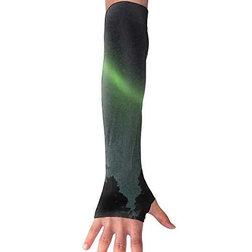 (Scandinavia Aurora UV Sun Protective Outdoors Stretchy Cool Arm Sleeves Warmer Long Sleeve Glove)