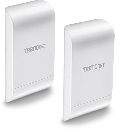 TRENDnet 10dBi Wireless N300 Outdoor PoE Preconfigured Point-to-Point Bridge Bundle Kit, 2 x Preconfigured Wireless N Access Points, IPX6 Rated Housing, TEW-740APBO2K