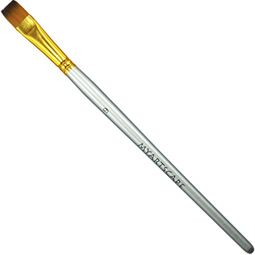 Taklon Synthetic Brushes - Short Handle Replacement Brushes … (Bright 1/2