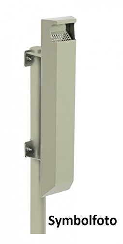 ROSSIGNOL Cendrier arkea 3L en acier pour support Montage disponible en 4 couleurs Gris ciment