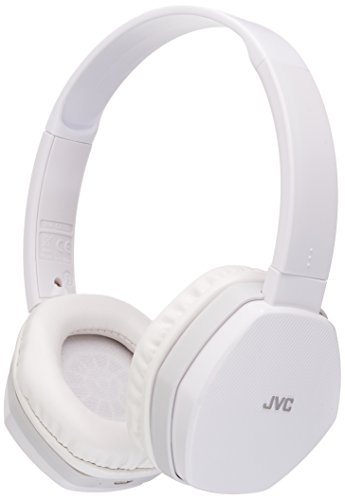 JVC HASBT5W Over-Ear Bluetooth Headphones (White)