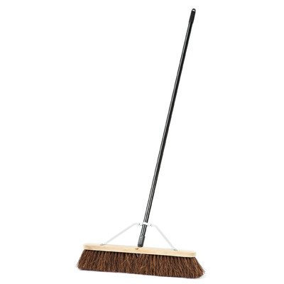 Laitner Brush 278A Assembled Block Push Broom with Metal Handle & Brace, 24'' by Laitner Brush (Image #1)