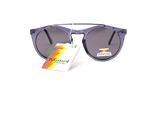 lunettes de soleil polarisantes polarisées cityvision rondes verres ronds  homme femme verres polarisés 201346 (monture noire brillant verres gris)   ... a2f72e4bfcba