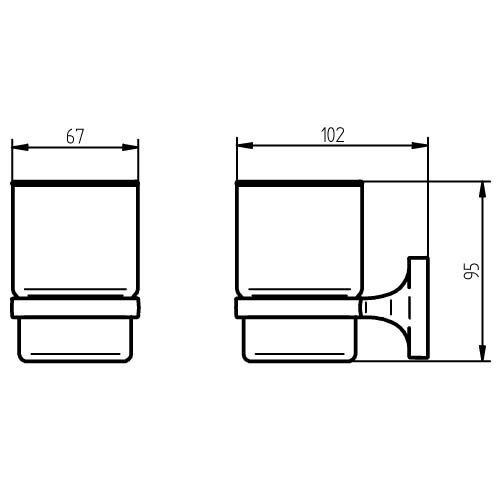 Gris 8.71x13.26x12.35 cm Metal Haceka Aspen Chrome Soporte para Vaso