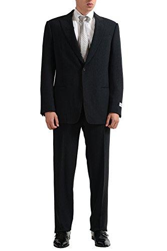Armani Collezioni Men's Striped One Button Suit US 36R IT 46R ()
