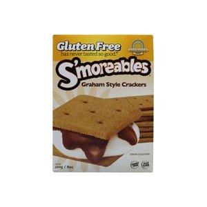 Kinnikinnick, Smoreable Graham Style Crackers, Wheat Free, Gluten Free, 8-Ounce (Pack of 6) ( Value Bulk Multi-pack) by Kinnikinnick