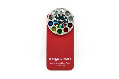 Holga iPhone 5 Lens Filter Kit SLFT-IP5 - Red by Holga