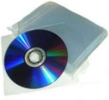 100 pochettes transparentes pour CD//DVD avec ailette de fermeture